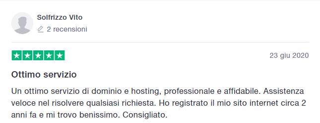 Recensione dominio e hosting